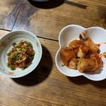 じん - 料理写真:チャンジャとカクテキ