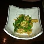 PAN - 前菜は、鶏肉とセロリ+ネギでした