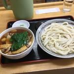 107733326 - 手打ちうどん永井 「ピリ辛肉汁うどん(小)」750円