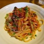 けや木 - ランチ・ナスのトマトソーススパゲティ800円