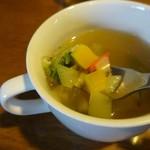 けや木 - ランチスープも野菜いっぱい♪