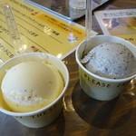 ビファーボ - 左・そば茶、右・黒ゴマ