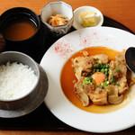根津 みるくの豚 - 生姜焼定食