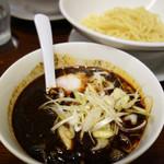 ちー坊のタンタン麺  - タンタン黒胡麻つけ麺(麺量120g)750円。