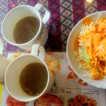 10775353 - ランチセットの「スープ」と「サラダ」