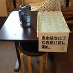 麺屋 から草 - お冷はセルフサービス(2019年5月15日)