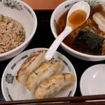 日高屋 - 料理写真:ラ・餃・チャセット 570円