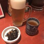 たんや 善治郎 - キリン一番搾り 中ジョッキ(540円)