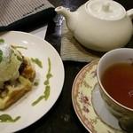 Cour Plus - 抹茶あずきワッフルセット 787円