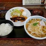 めしや 大福 - ヒレカツうどん定食 972円