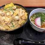 草津パーキングエリア(上り線)フードコート - 近江鶏の親子丼セット