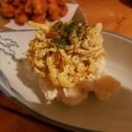 北海道 海鮮居酒屋 魚人  - クリームチーズと燻製たくあんのいぶりがっこ風
