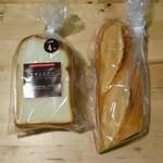フラマンドール - 料理写真:バゲットのハーフサイズとイギリスパン半斤。