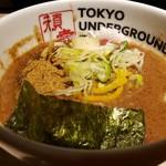 東京アンダーグラウンドラーメン 頑者 - 濃厚つけ麺のスープ!