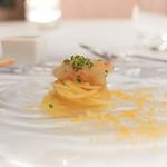 サーラ アマービレ - ボタン海老とカラスミの冷たいカッペリーニ