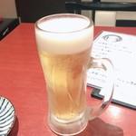 麺どころ 千屋 - 生ビール500円!