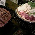 10778930 - 【八戸せんべい汁鍋】\1,280…味のしみたせんべいは美味。2~3人前。鶏の肝、心臓が入るので苦手な方は店員さんに言うべし。