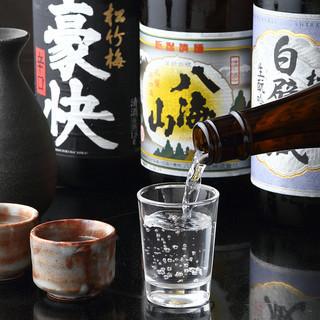 【日本各地の地酒】料理に合うこだわりのお酒を各種ご用意