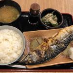 串かつでんがな - 汐さば焼き定食@830円