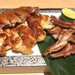 107794968 - 彩野菜純系名古屋コーチン(もも肉、むね肉、せせり盛り合わせ)