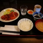 カフェドマデル - A定食 チキンカツ 470円
