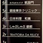 凱旋門 - エレベーターで6Fに上がる