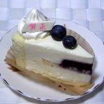プティ・パトラン洋菓子店 - ブルーベリーのレアチーズケーキ