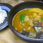 タビ カフェ - 『函館スープカレー』 カレーは他に、旅カフェ・キーマカレーと焼きカレー・たんまりチーズがあります!