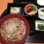 黒豚料理 寿庵 - 豚しゃぶ蕎麦