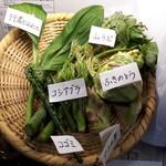 戸隠蕎麦やまざと - この日の山菜