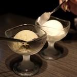 鉄板焼 お好み焼き じゅうじゅう - ピスタチオアイス