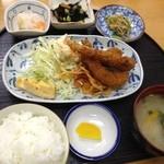 惣菜 おか - エビフライ定食490円(第二回投稿分③)