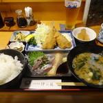 活魚料理仲の坂 - あじお好み定食(セット)