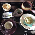 かぶせ茶カフェ - てらかわわせ、マフィン   新茶膳  700円