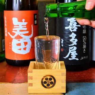 月替わりで厳選【銘柄焼酎、ワイン、各種地酒を多数ご用意】