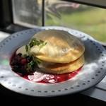 ZABO CAFE - ⑪手作りチーズクリームパンケーキ