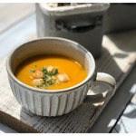 ZABO CAFE - ⑨本日のスープ (かぼちゃのヴィーガンポタージュ)