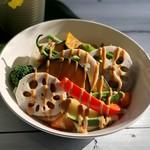ZABO CAFE - ⑤12種類一日分の温野菜サラダ