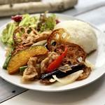 ZABO CAFE - ②豚肉と香ばし野菜のしょうが焼きとごはん