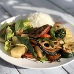 ZABO CAFE - ①12種類一日分野菜の香ばしい炒めとライス