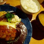 山本のハンバーグ - チーズハンバーグセット