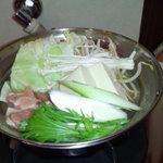 1人鍋専門店 ひとり  - 鶏鍋(ゆず胡椒)