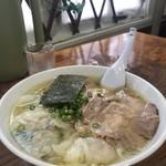 伊達屋 - 塩雲呑麺1050円 煮卵100円