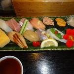 寿司と地魚料理 大徳家 - おまかせ握りアップ