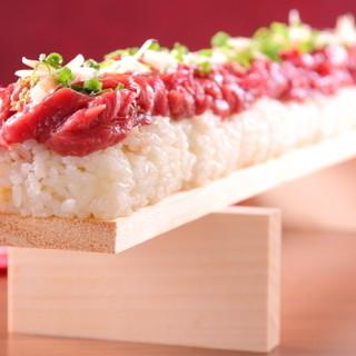 ★珍しい!素材に自信があるからこその『肉の寿司』