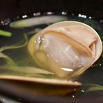 魚のてっぺん - 桑名産 はまぐり(酒蒸し)@300円