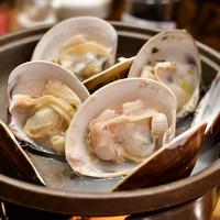 魚のてっぺん-地蛤の陶板焼(4個)@780円