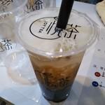 悦茶 JOY TEA - 沖縄黒糖タピオカミルクティー(M) 550円