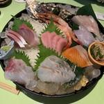 地魚料理 まるさん屋 - 刺し盛り♡~٩(⸝⸝⸝◕ั ௰. ◕ั⸝⸝⸝ )و