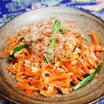 侍ちゃんぷる - 黒木メイサさんも大好きな代表的な沖縄の家庭料理【にんじんシリシリ】